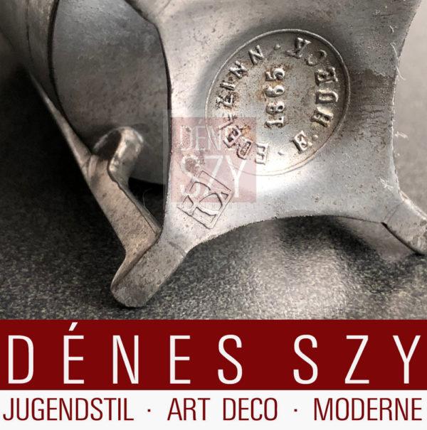 Hueck Jugendstil Zinn, Becher, J. M. Olbrich