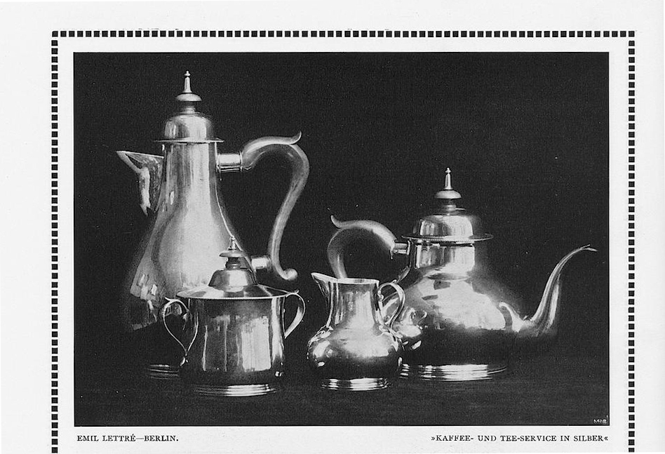 Emile Lettré Silber Tee und Kaffeeservice Werkbund Ausstellung 1914