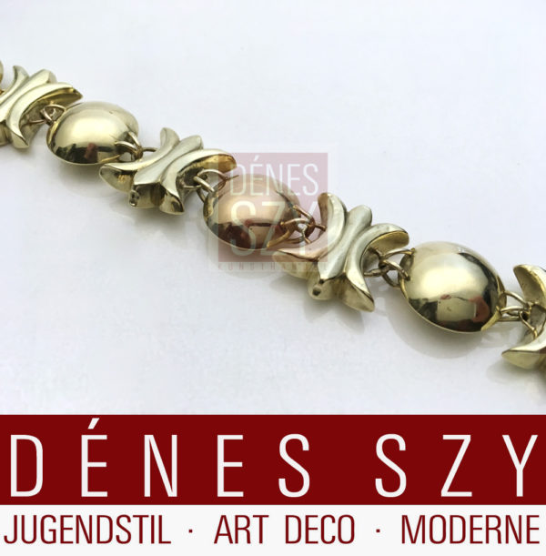 Art Deco yellow gold bracelet Emile Lettré Berlin 1920