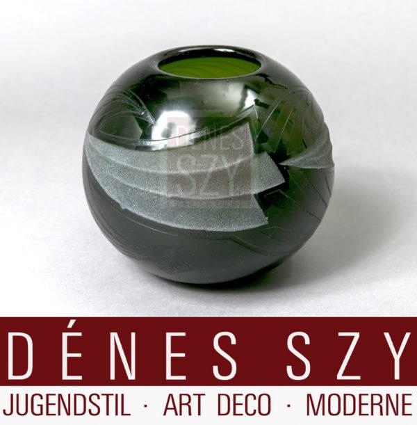 Art Deco Legras Glas Vase