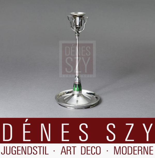 Jugendstil Silber Kerzenleuchter Eisenloeffel 1910