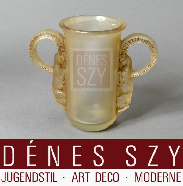 Rene Lalique Art Deco Glas Vase Thibet 1931