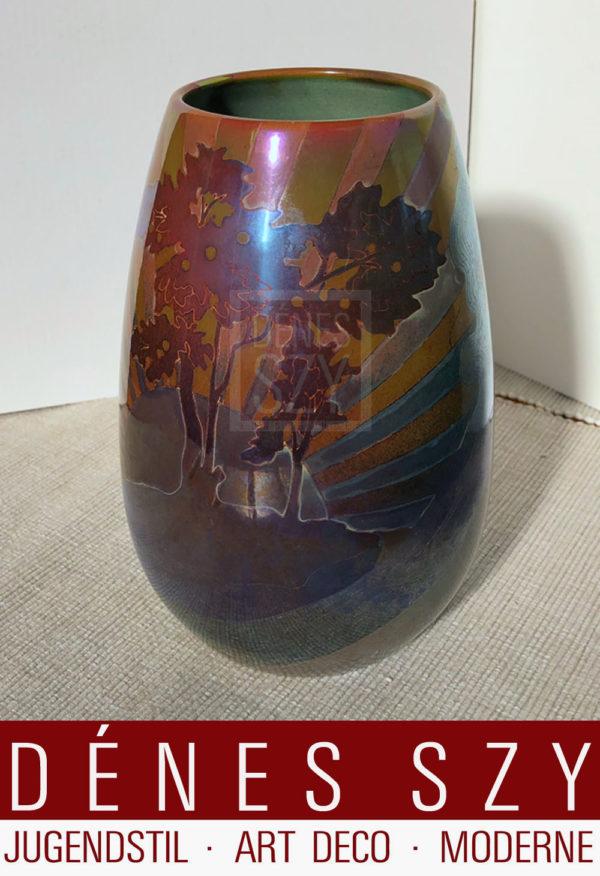 Ungarische Jugendstil Keramik Vase Zsolnay 1900