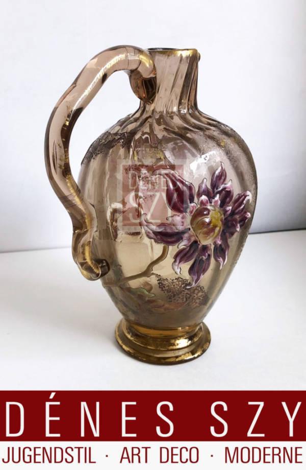 Emile Gallé caraffa in vetro Nancy 1895