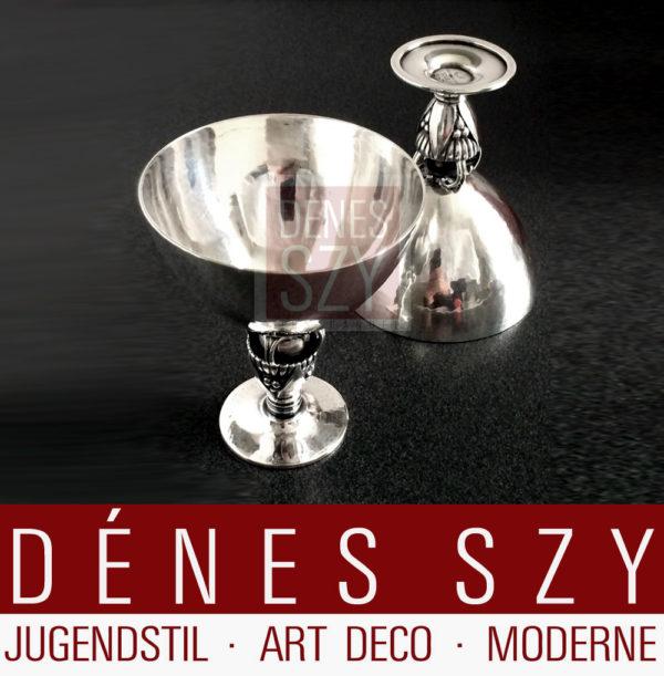 Georg Jensen Silber Cocktail Likörglas Becher # 572 D Kaktus