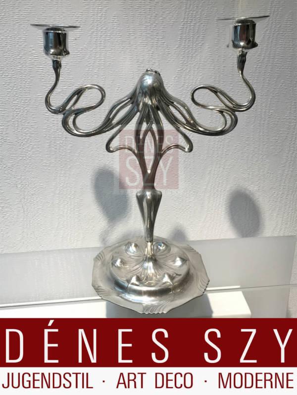 Candeliere 2210 in peltro dorato epoca liberty Orivit AG Germania