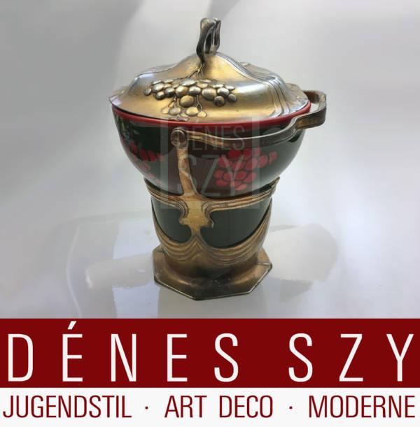 OSIRIS 538 Keramik Keksdose mit Zinnmontur