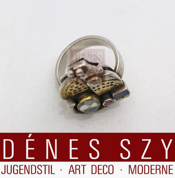 Ring with gemstones Linda Ladurner France 1985