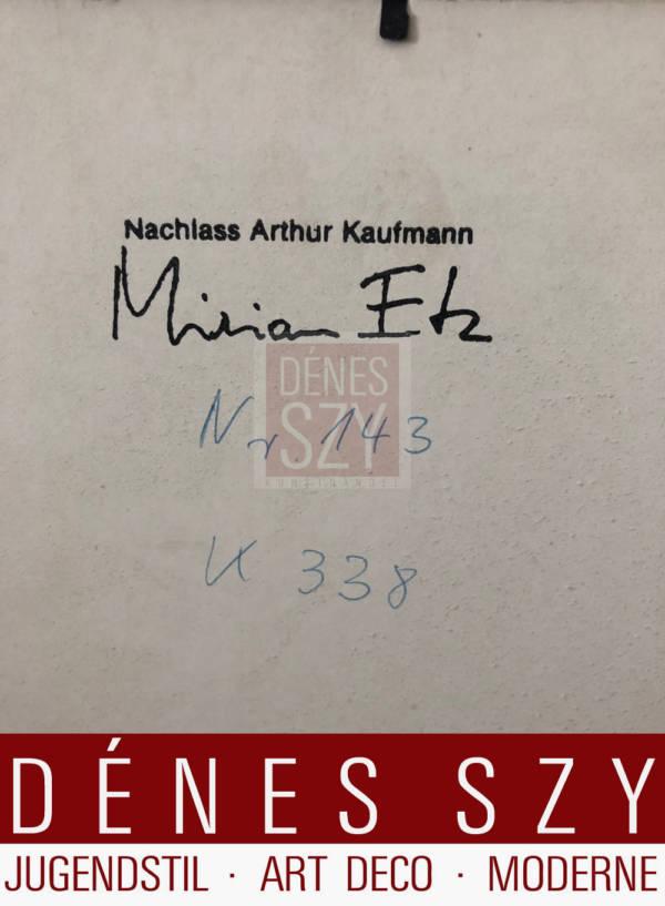 Arthur Kaufmann Kohlezeichnung 1930er Jahre Junges Rheinland
