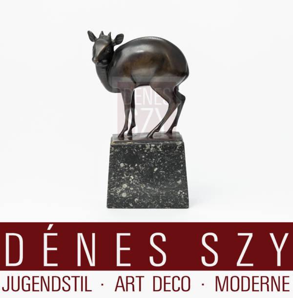 FRITZ BEHN Zwergantilope Bronze Figur