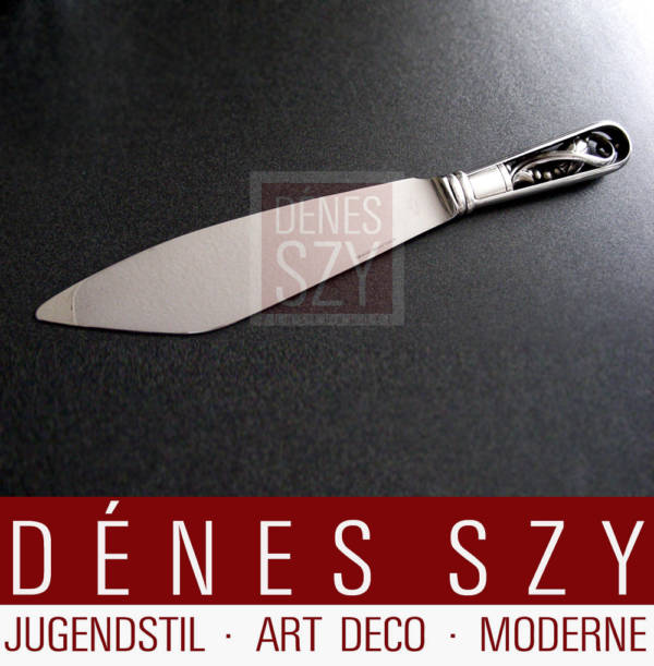 Georg Jensen Silber Magnolia 84 Tortenmesser Essbesteck