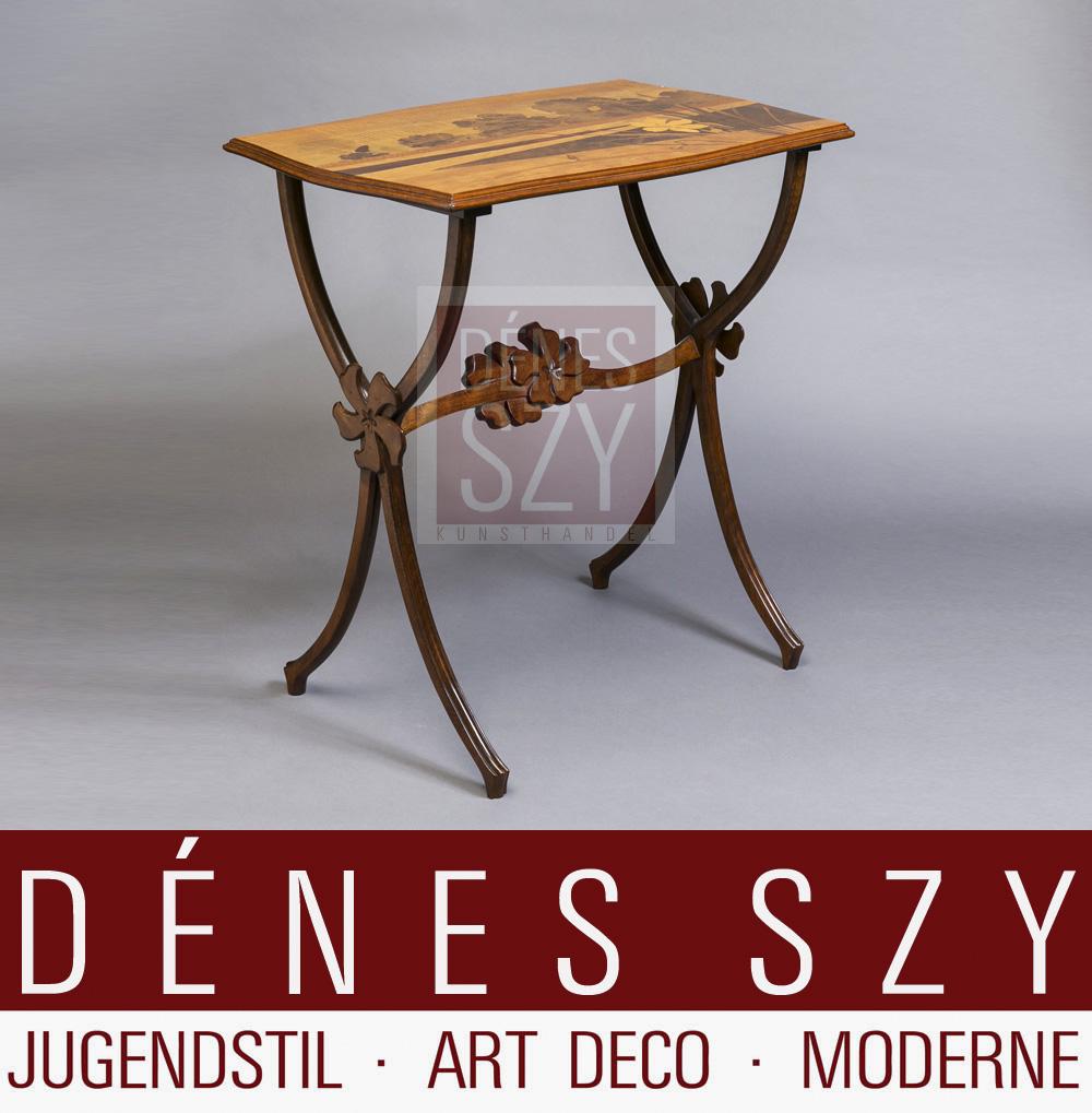 emile galle nancy franz sische jugendstil m bel beistell tisch. Black Bedroom Furniture Sets. Home Design Ideas