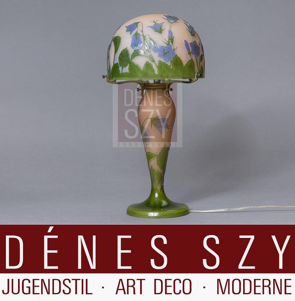 franz sische jugendstil tisch lampe von emile galle nancy um 1900. Black Bedroom Furniture Sets. Home Design Ideas