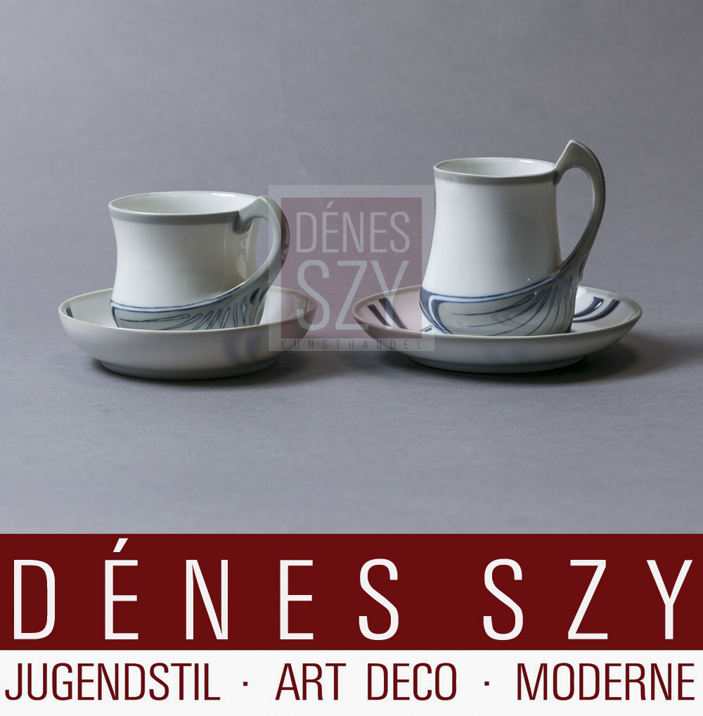Kaffee, Kakao Tasse, Unterglasur Farben, Schwertermarke, Saxonia Serie