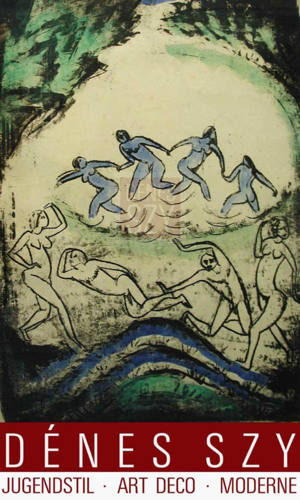Max PECHSTEIN Original handcolorierte Lithographie Der Tanz