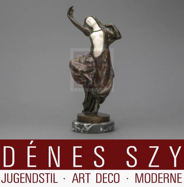Bronzo Art Deco Salome di P Tereszcuk Vienna