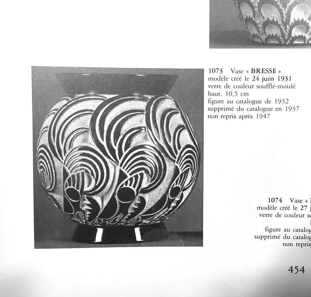 Art Deco Vase Bresse R Lalique 1931