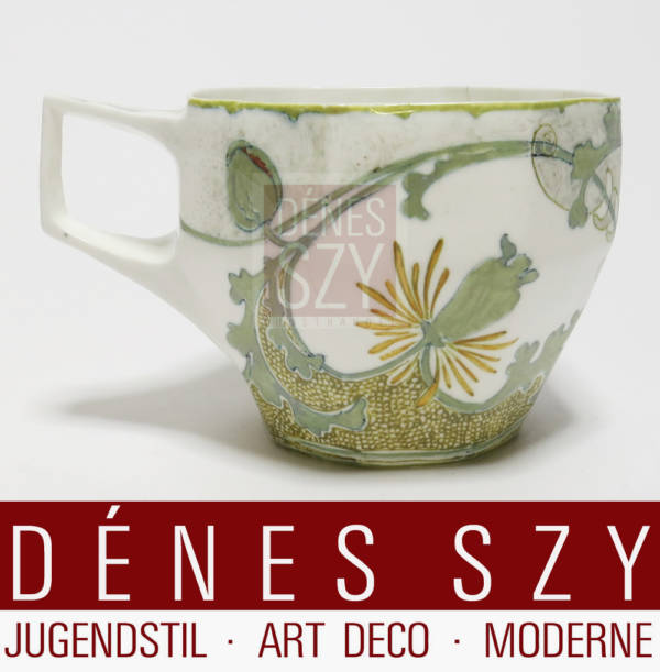Rozenburg Art Nouveau eggshell porcelain coffee cup