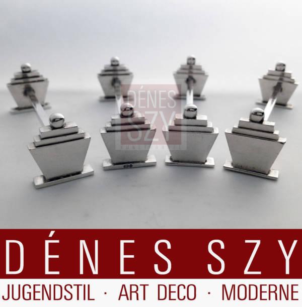 Georg Jensen Silber Pyramide 15 Messerbaenkchen