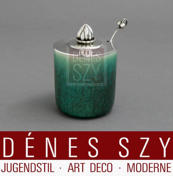 Georg Jensen Silber SAXBO Art Deco Konfituerendose 363 B HN