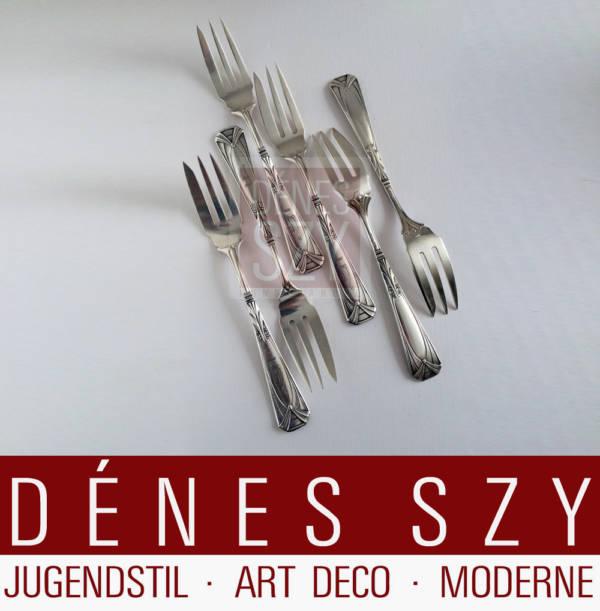 Peter Behrens Jugendstil Silber Besteck Salatgabel