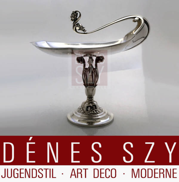 Georg Jensen Silber Tazza 285 A gefertigt 1918-28