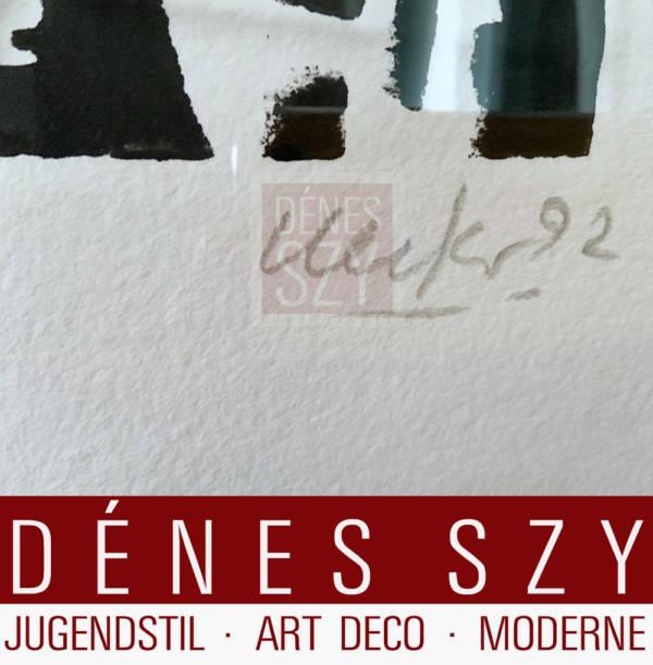 OHNE TITEL. 1992 Kombination aus Prägedruck mit Nägeln und Holzschnit tGünther Uecker 1992 Auflage: 75 Exemplare