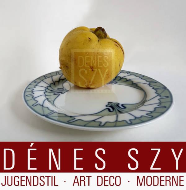 Piastra panino in porcellana Hentschel in porcellana Art Nouveau Meissen