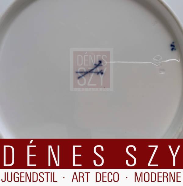 Meissener Jugendstil Porzellan Hentschel Fluegelmuster Dessertteller