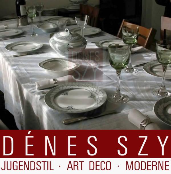 Servizio da tavola in stile Art Nouveau motivo ala Meissen ciotola per pasta