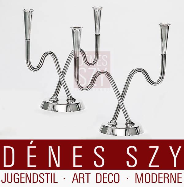 Georg Jensen silver Bernadotte design, candlestick 1050