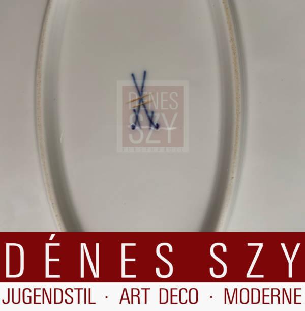 Meissen, art nouveau porcelain, Wing pattern serving plate M by Hentschel