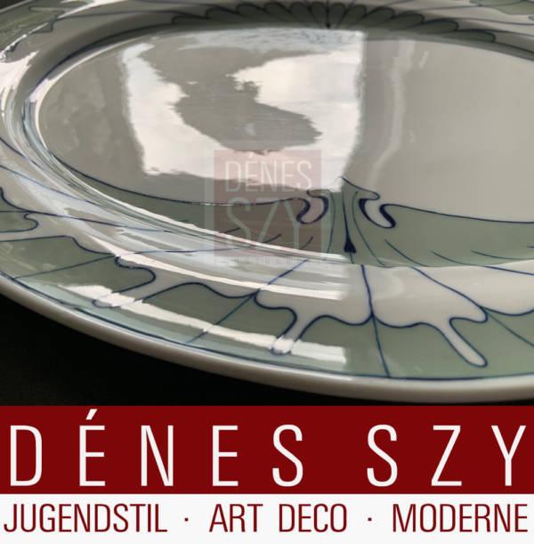 Servizio da tavola Art Nouveau Piatto ovale XL Meissen modello ala