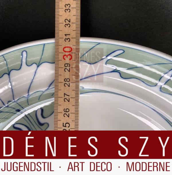 Jugendstil Tafelservice aus Meissen Pastaschale Fluegelmuster