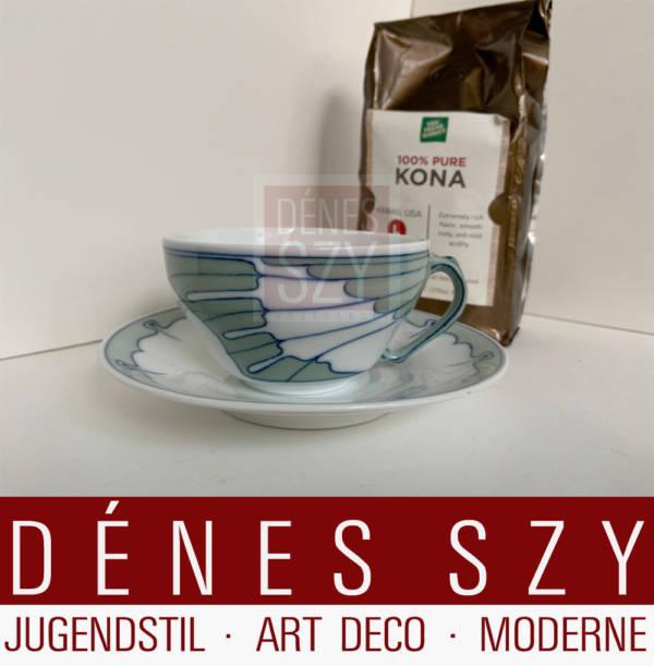 Jugendstil Kaffeetasse Meissen Fluegelmuster