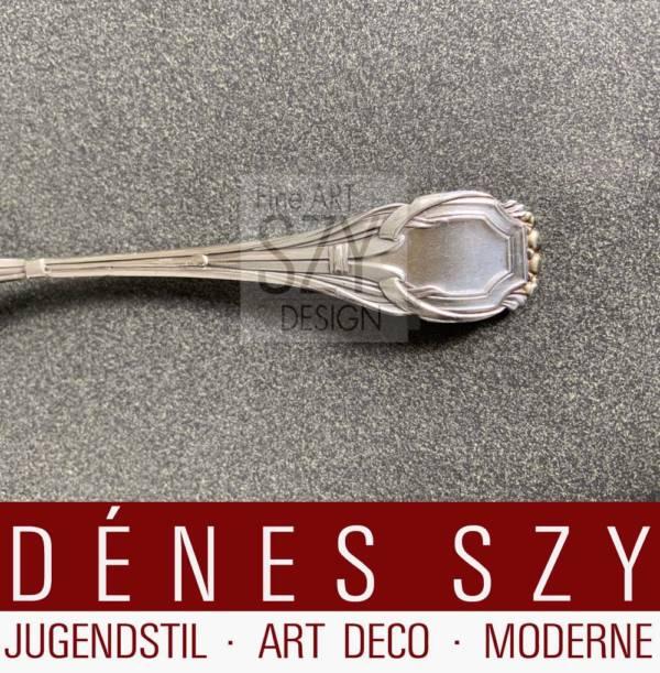 Otto Rieth silver cutlery Bruckmann 1900 Art Nouveau dessert spoon