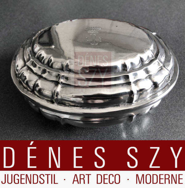 Baroque silver lidded box 13 Loth, Vienna 1737