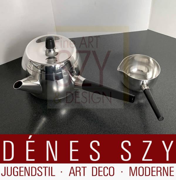 Mid Century Modern Silber Teekanne 1127 Design Henning Koppel 1964
