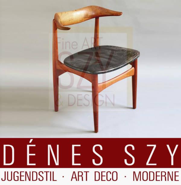 Knud Faerch Armlehnstuhl SM 521 Cowhorn Chair, Entwurf: Knud Faerch 1950er Jahre, Ausführung: Slagelse Møbelvaerk 1950-1960er, Teakholz
