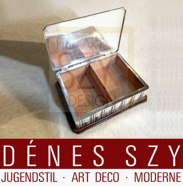 Wolfers Freres, Art Deco Silber Deckeldose, Brüssel ca. 1920