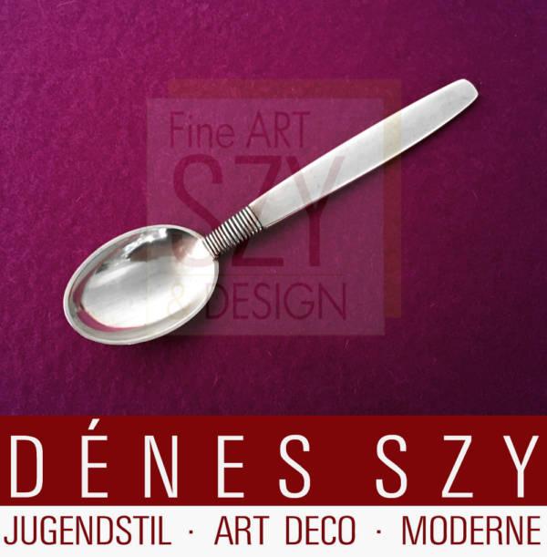 Silver Thread Hingelberg 18 Danish Sterling Silver cutlery mocha spoon
