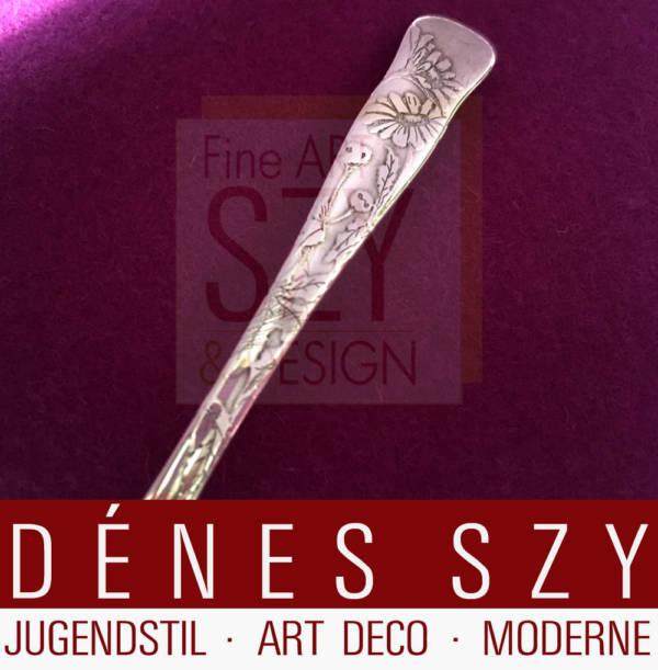 Tiffany Jugendstil Silber Besteck Lap over Edge Kaffeelöffel Grosjean