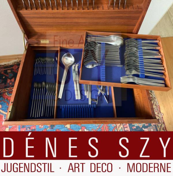 Boîte à couverts pour Georg Jensen couverts en argent des années 1960