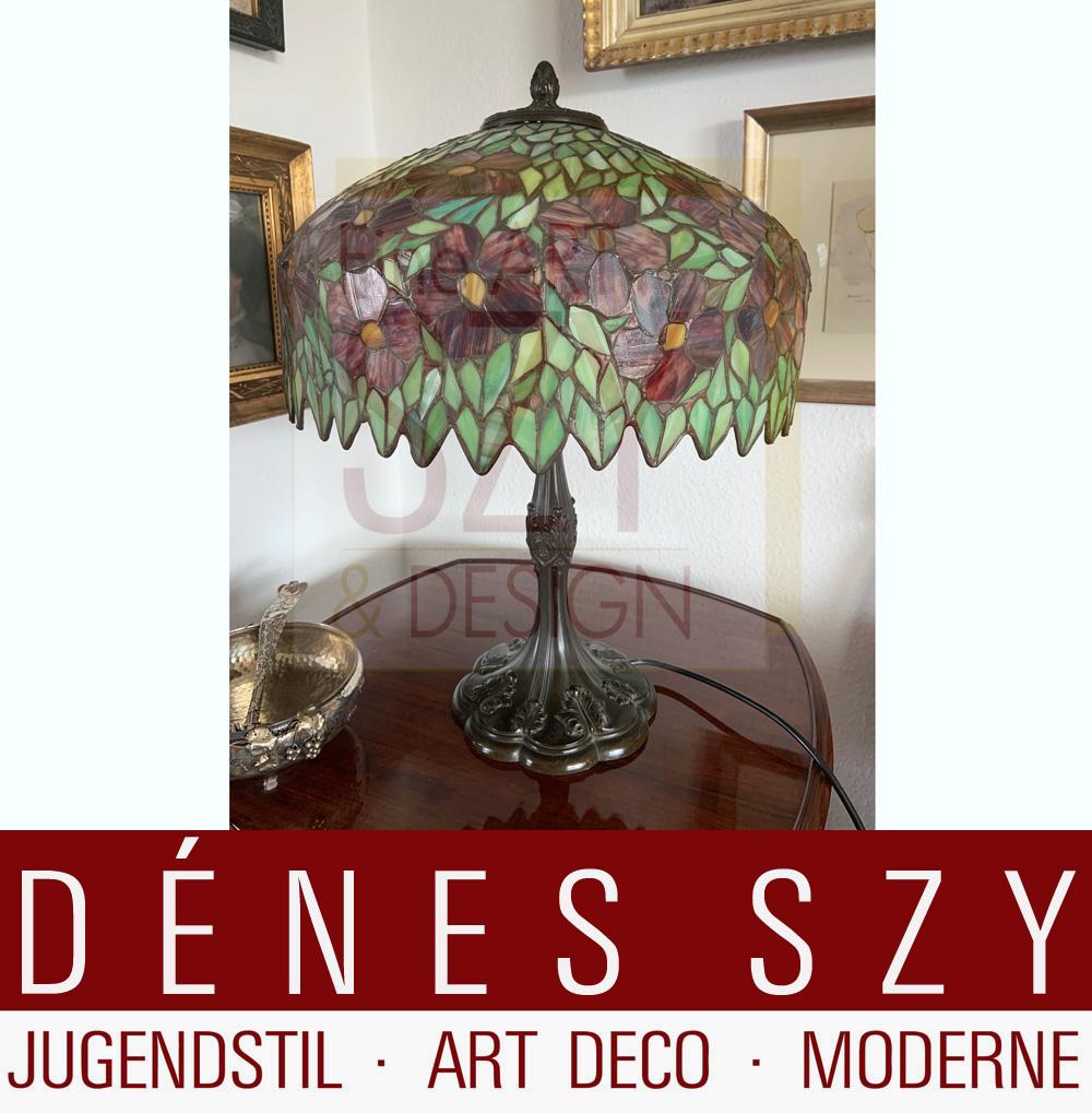 Handel Usa Bleiglas Lampe Um 1900 Denes Szy Fine Arts Duesseldorf