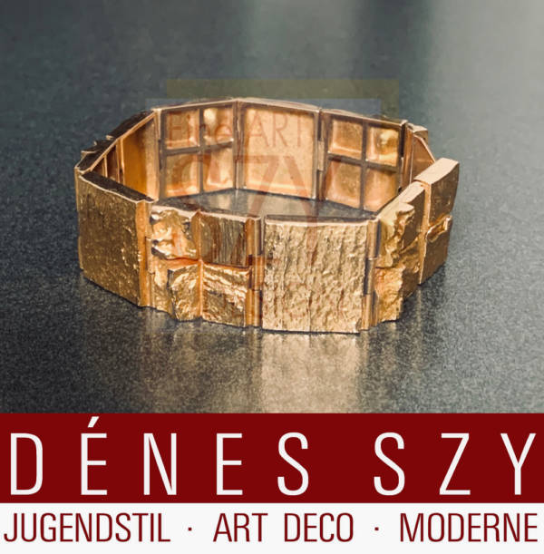 Quadrate Forms, 14K gold, bracelet BW for Lapponia, 1968