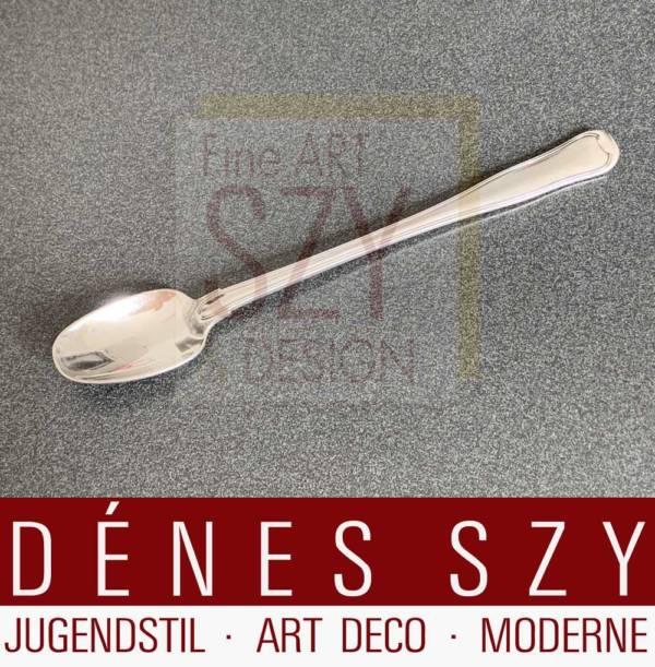 Ice tea spoon, model: DOBBELTRIFLET / OLD DANISH # 100, Design: Harald Nielsen 1947, Execution: Georg Jensen silversmiths, Copenhagen, sterling silver