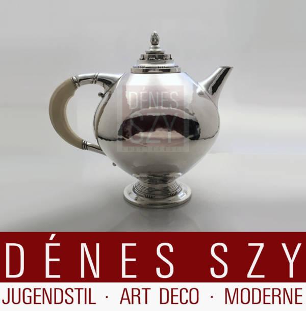 Teiera 279 in argento Art Déco di Georg Jensen Johan Rohde 1919