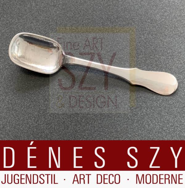 Sugar spoon / children's spoon, Cutlery pattern ARESOLV No. 21, Design & execution: Evald Nielsen, Copenhagen 1928 Denmark, 830 silver