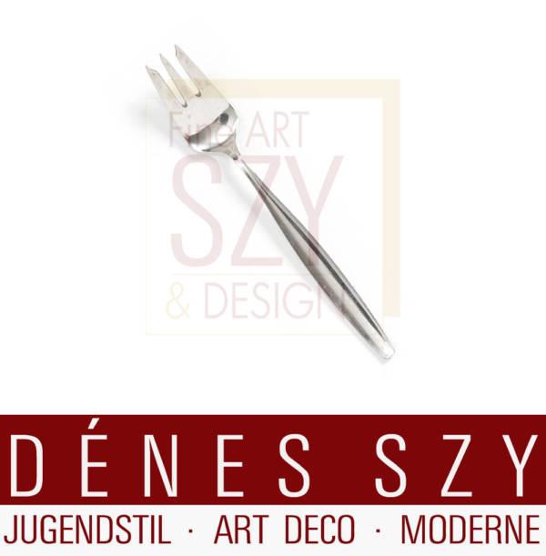Georg Jensen Silber Besteck, Kuchengabel, Muster Cypress / Cypres # 99, Entwurf: Tias Eckhoff 1954, Georg Jensen Silberschmiede, Kopenhagen ca. 1950er Jahre