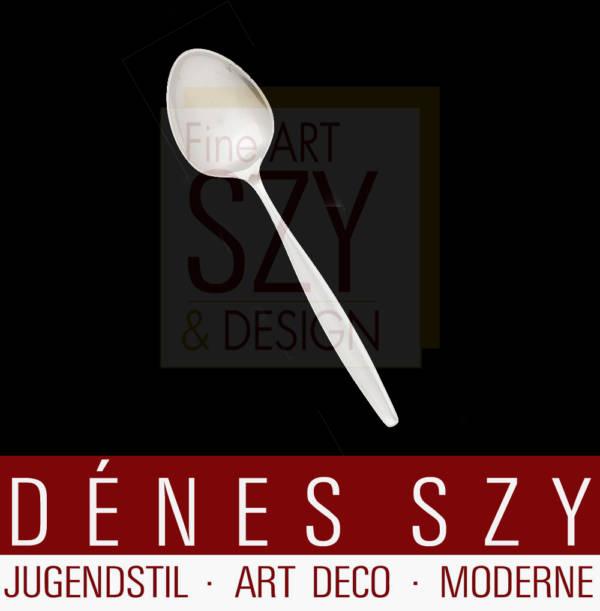 Georg Jensen Silber Besteck, Tafellöffel, Muster Cypress / Cypres # 99, Entwurf: Tias Eckhoff 1954, Georg Jensen Silberschmiede, Kopenhagen ca. 1950er Jahre